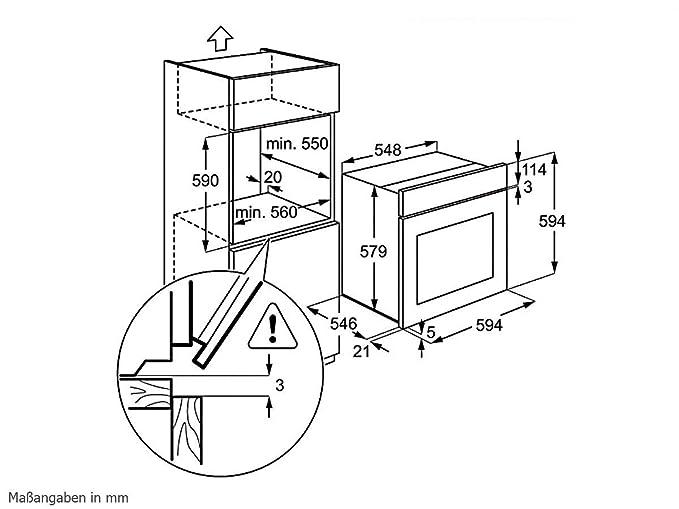 AEG Set Pyrolyse Backofen BP3003001M Induktion Kochfeld HK654250X B Einbau Amazonde Elektro Grossgerate