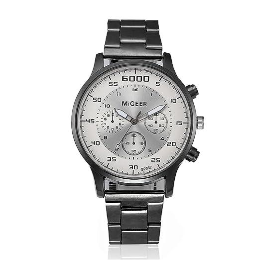 Sunday Hombre Cristal Acero Inoxidable Cuarzo AnalóGico President Reloj De Pulsera Business Reloj Moda Reloj Plegable