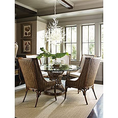 Tommy Bahama Bali Hai 6 Piece Dining Set In Warm Brown