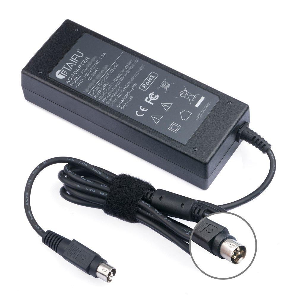 TAIFU AC DC Adapter for 24V WELLTRONICS 24V 5A 4-pin WTS-2405W WTS-2405s 070-7528-7874 LED LCD Monitor, Auria EQ276W EQ276WN 27'' WQHD Korean IPS LED Monitor 2560x1440 Monitor Switching Power Supply