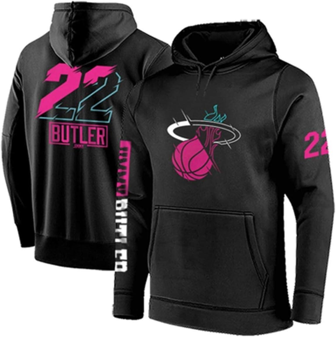 Color : Blue, Size : S Gflyme Sudadera con Capucha de Baloncesto de la NBA Miami Heat No.22 Mayordomo Hombres Camiseta de Espesado Sudadera Jersey Baloncesto Ropa Sueltos