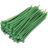 100 fascette serracavi verdi, 100 mm X 2,5 mm, disponibili in tutte le dimensioni