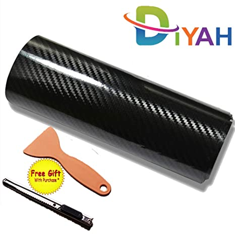 "120/"" x 60/"" Gloss Black Vinyl Film Wrap Sticker Decal Air Bubble Free 10ft x 5ft"