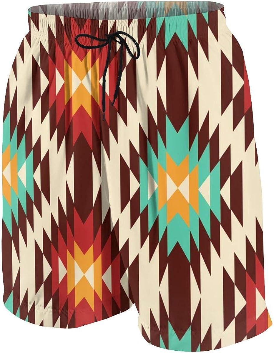 American Native Pattern Mens Running Swim Board Shorts