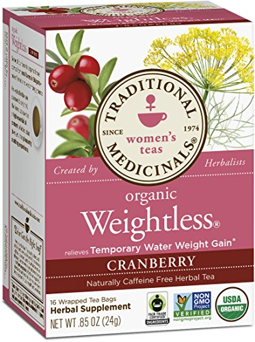 Traditional Medicinals Organic Weightless Cranberry Tea, 16 Tea