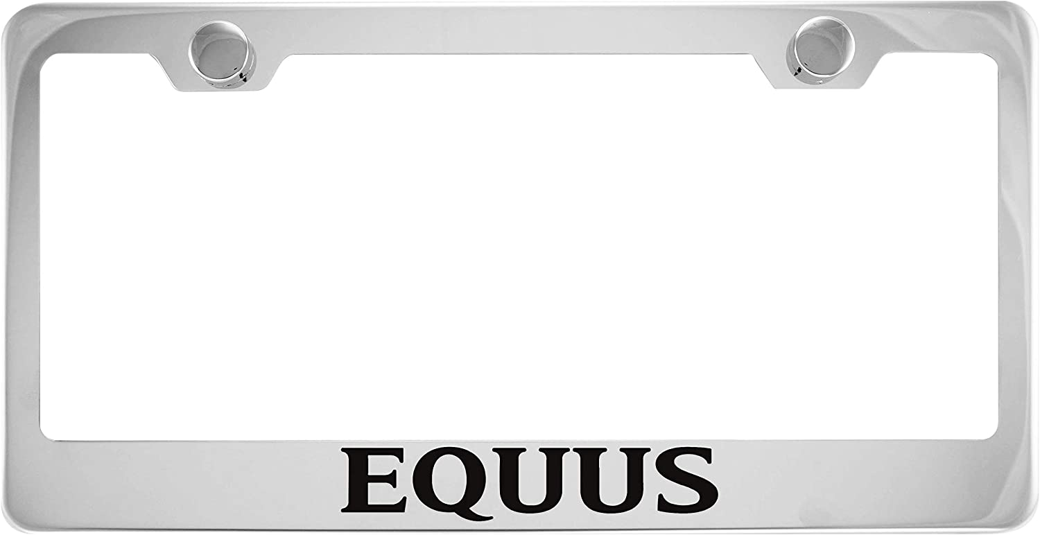 Stainless Steel Fit Equus Chrome License Plate Frame with Cap