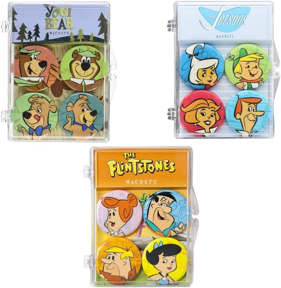 Hana Barbera Fridge Décor Gift Set: Flintstones, Jetsons & Yogi Bear