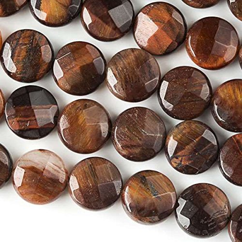 Cherry Blossom Beads Red Tiger Eye Beads 10mm Faceted Coin - 8 Inch Strand (Eye Coin Tiger)