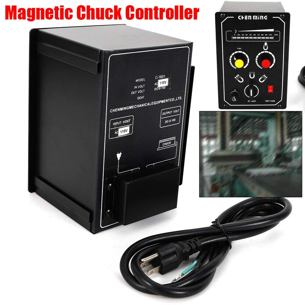 5A 110V Electro Magnetic Chuck Controller Industrial Controller 9-15s Demagnetize