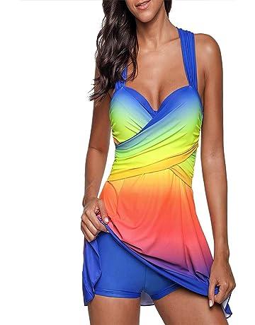 cd605b9a0e7 BVBGN Womens Criss Cross Tankini Swimsuits Two Piece Swimwear with  Boyshorts Plus Size