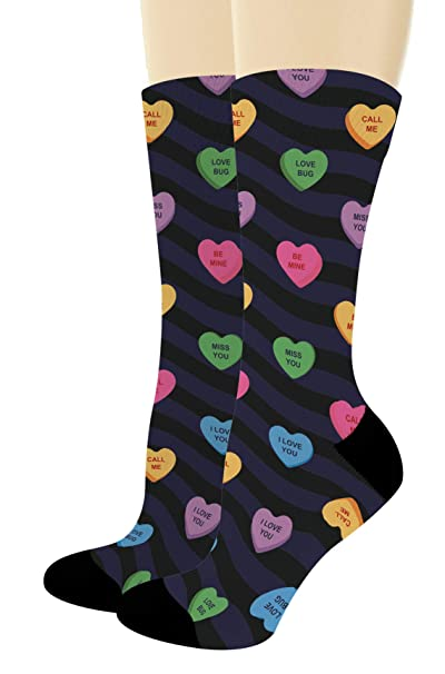 022ce0c74 Mens Valentines Gifts Candy Heart Sock Wife Gifts for Husband Gifts 1-Pair  Novelty Crew