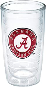 Tervis Alabama University Emblem Individual Tumbler, 16 oz, Clear