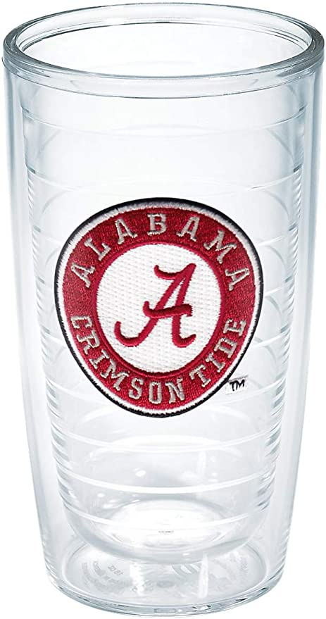 Clear 16 oz Tervis 1084192 Alabama University Text Emblem Individual Mug