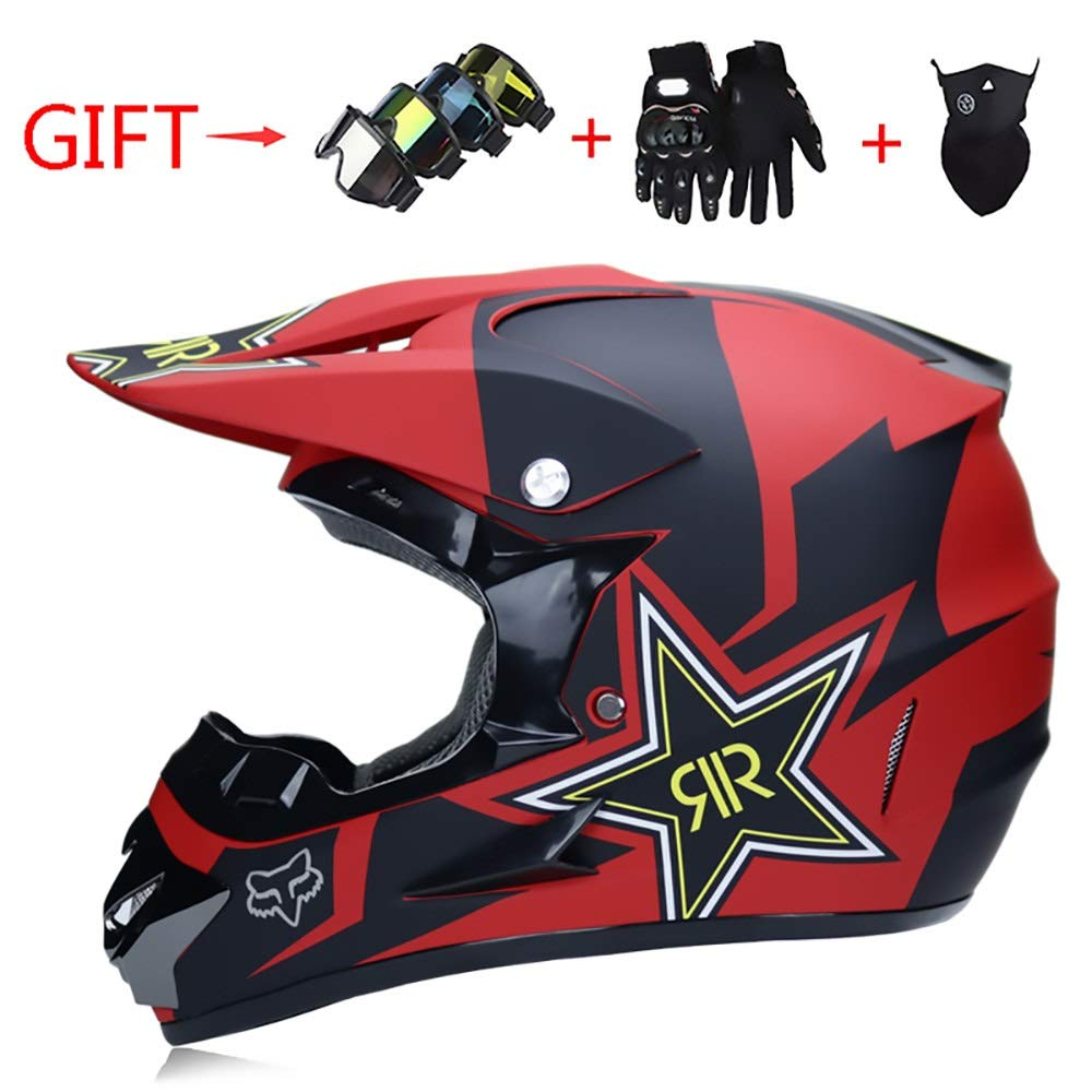 HYH 赤と黒のパターン五芒星パターン大人自転車ヘルメット乗馬電気自動車オートバイヘルメット自転車マウンテンバイクヘルメット屋外乗馬機器 いい人生 (Size : M) Medium  B07SBZXFRN