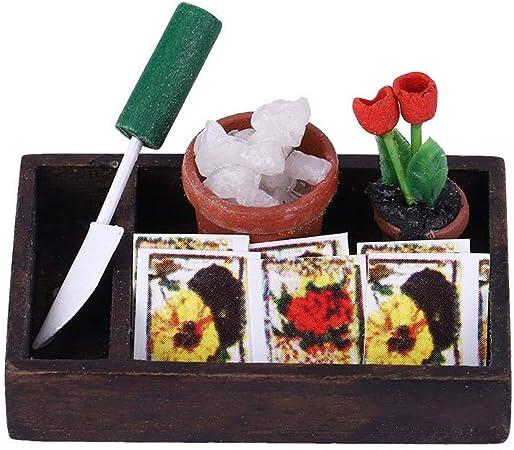 1//12 accessoire de décoration de maison de poupée miniature de boîte à