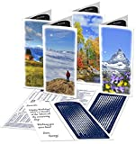 Lunar Calendar 2018, Mountain Greeting Cards, 8 set