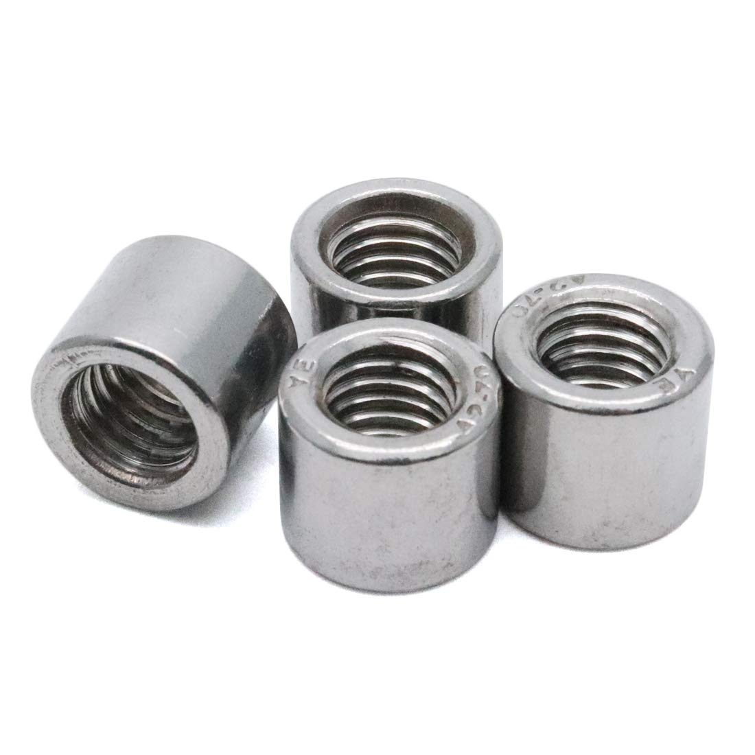 Yootop M8 Thread Round Coupling Nut Sleeve Stud Nut 30mm Height 5-Pack