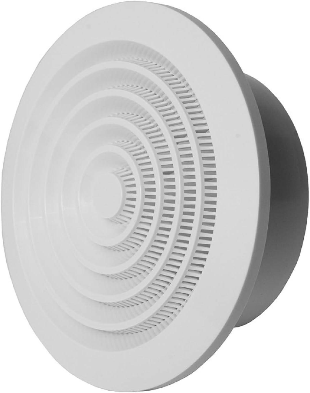 color blanco Rejilla de ventilaci/ón redonda con protecci/ón contra insectos 125 mm de di/ámetro