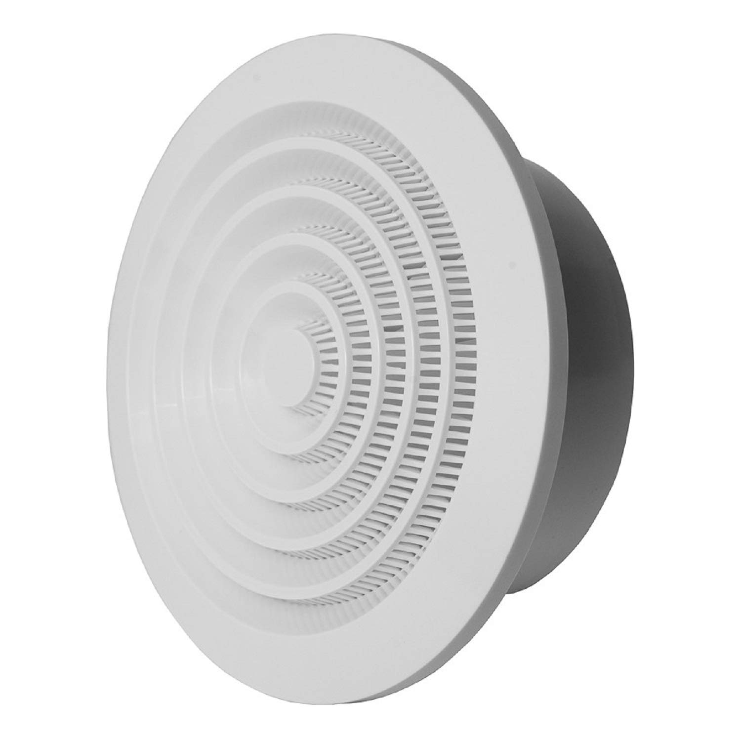 Ventilation Louvre Cover Grille Protection against Insects, Round, Diameter 125mm–5inch, White ABS Grate NGA125 Diameter 125mm-5inch Europlast