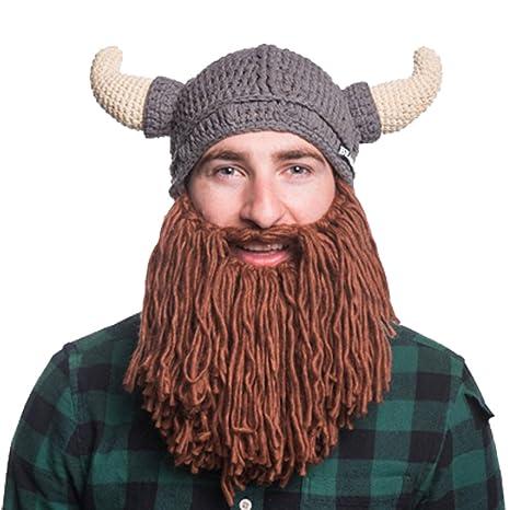 negozio del Regno Unito consegna gratuita dal costo ragionevole Beardo Berretto con barba vichinga – Berretto a maglia con ...