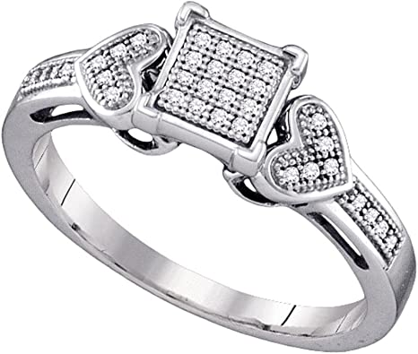 Sonia Jewels 925 Sterling Silver Round Halo Solitaire Pave Set Cubic Zirconia CZ Engagement Ring