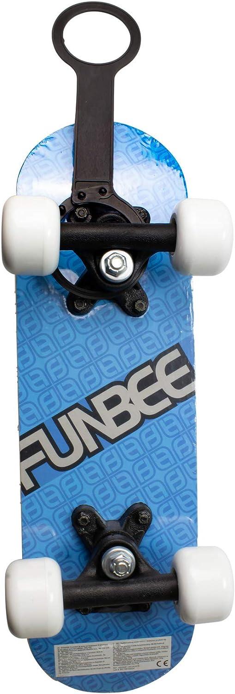 Funbee-OFUN247B Mini Skate en Madera 17 Pulgadas Azul Ruedas PVC 50x36mm Color Darpeje OFUN247B