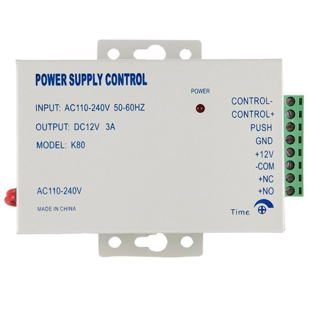 Power Supply Controller AC 110-240V to DC 12V Access Control System & Intercom Camera Electric Strike Bolt Lock Magnetic Lock Video Door Phone Video intercom Power Supply Control