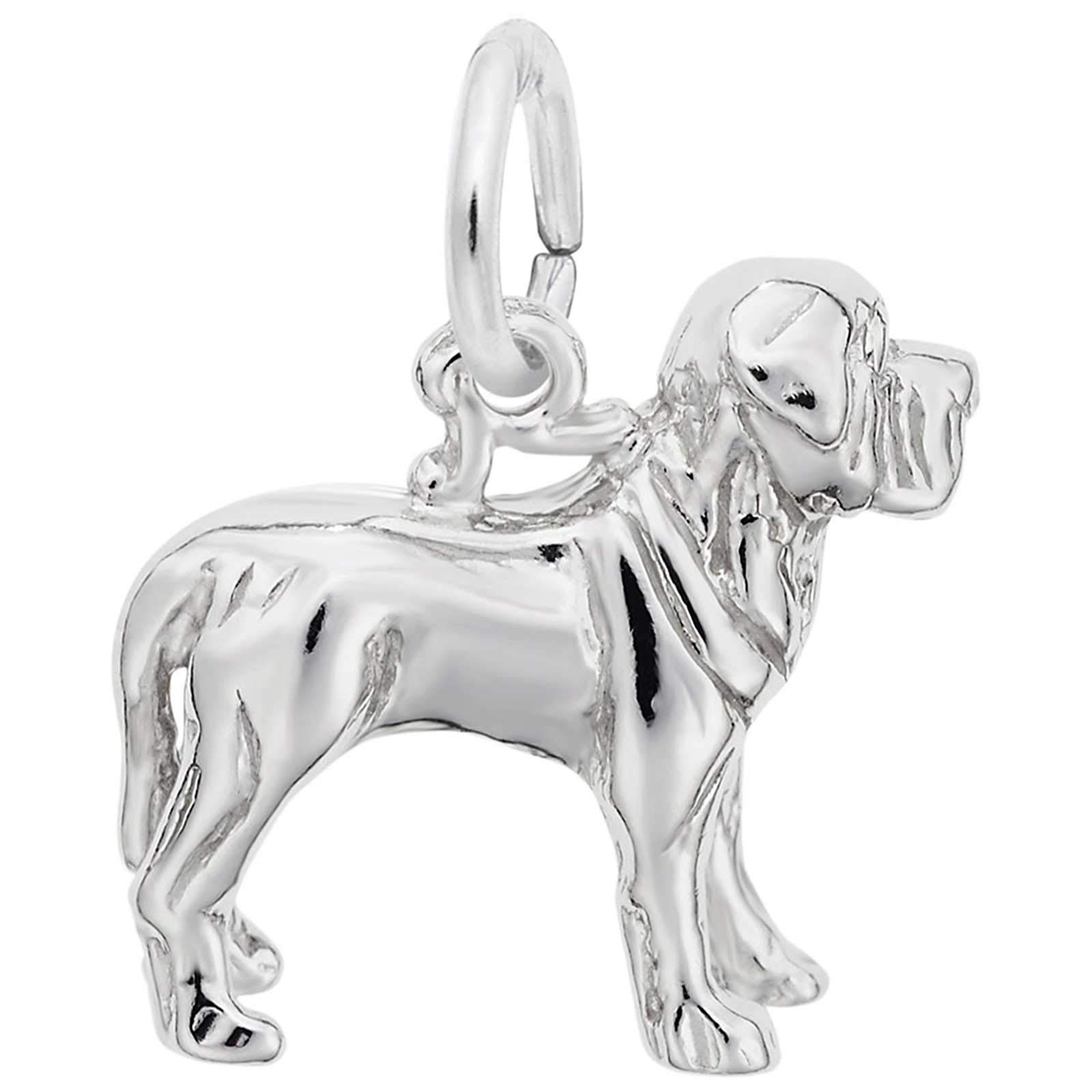 Rembrandt Charms Mastiff Charm, Sterling Silver