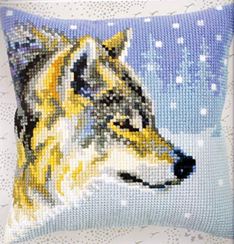 Collection D'Art Stamped Needlepoint Cushion Kit 40 X 40 cm Winter Animals -