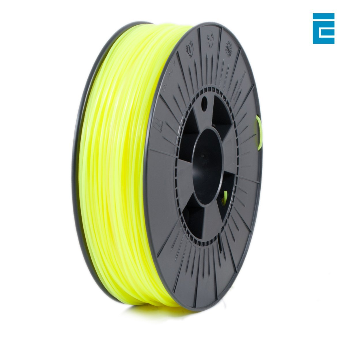 ICE FILAMENTS ICEFIL3PLA038 PLA Filament, 2.85 mm, 0.75 kg, Fluo Young Yellow DF