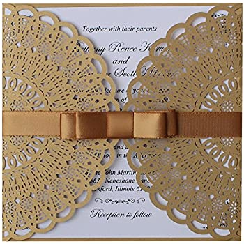Elegant Birthday Invitations Gold Invitation Cards Unique Wedding Lace