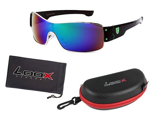 neue,moderne, sehr stabile Sonnenbrille Rahmen schwarz -Bügel rot/schwarz
