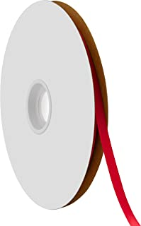 "product image for Offray Berwick 1/4"" Single Face Satin Ribbon, Red, 100 Yds"