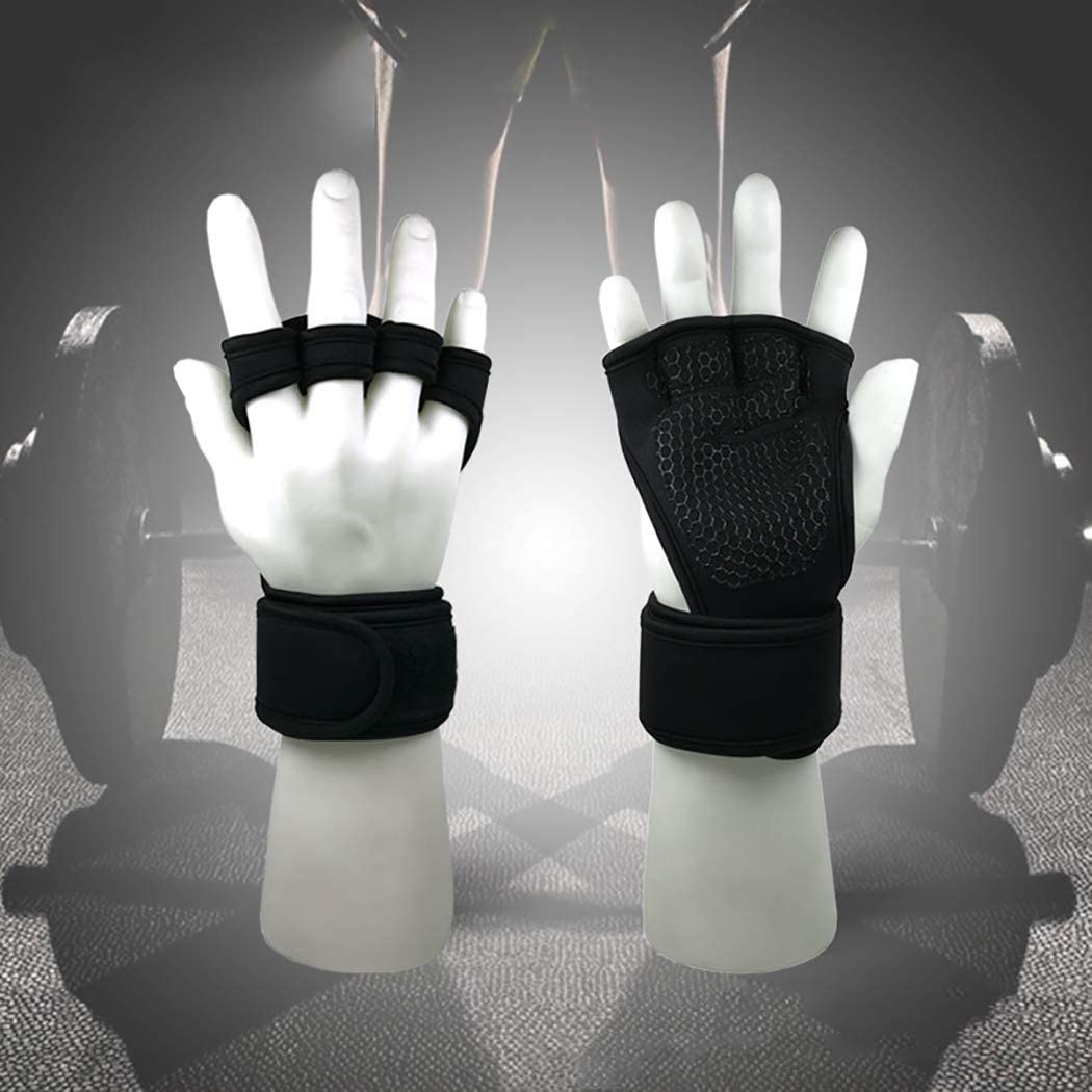 Fansport 1 Pair Fitness Gloves Wrist Wrap Support Weight Workout Gloves