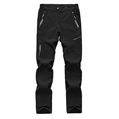 MAGCOMSEN Hiking Pants Mens Stretch Golf Pants Quick Dry Cargo Pants Fishing Pants Breathable Camping Pants Lightweight Outdoor Pants Climbing Pants Black: Clothing