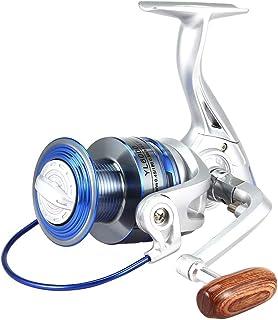 zhang-hongjun,Bobine de Filature 12 roulements à Billes 5.2: 1 Roue de Bateau de pêche en métal(Color:Argent ET Bleu,Size:YL6000)