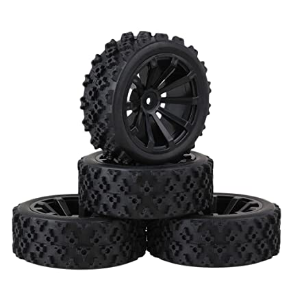 Amazon.com: mxfans Negro Flor Patrón hule Neumáticos + 10 ...