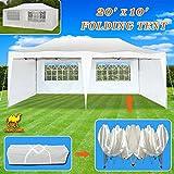 Strong Camel Ez POP up Wedding Party Tent 10'X20' Folding Gazebo Beach Canopy w/ 6 Removable Sidewalls Side Panel