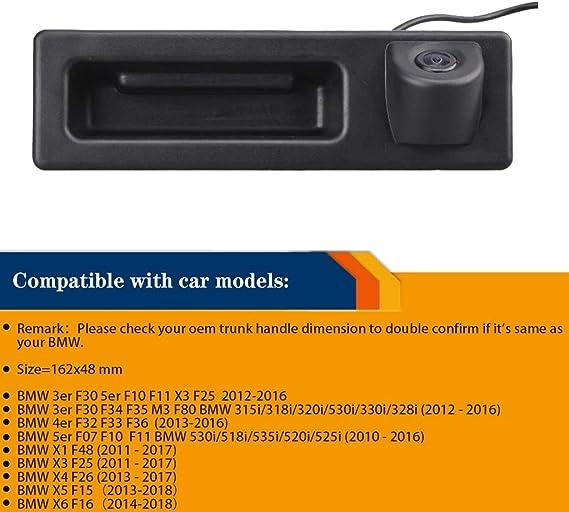 Newbee Rückfahrkamera In Griffleiste Griffmulde Einparkhilfe Für Bmw 3er F30 5er F10 F11 X3 F25 Bmw