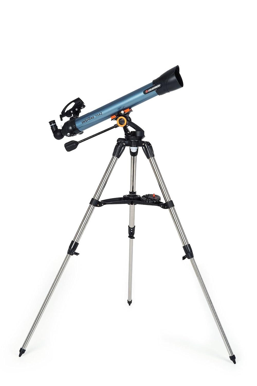 Color Azul y Negro Telescopio astron/ómico Celestron Inspire 80 mm de Apertura, 900 mm de Distancia Focal, f//11 de relaci/ón Focal