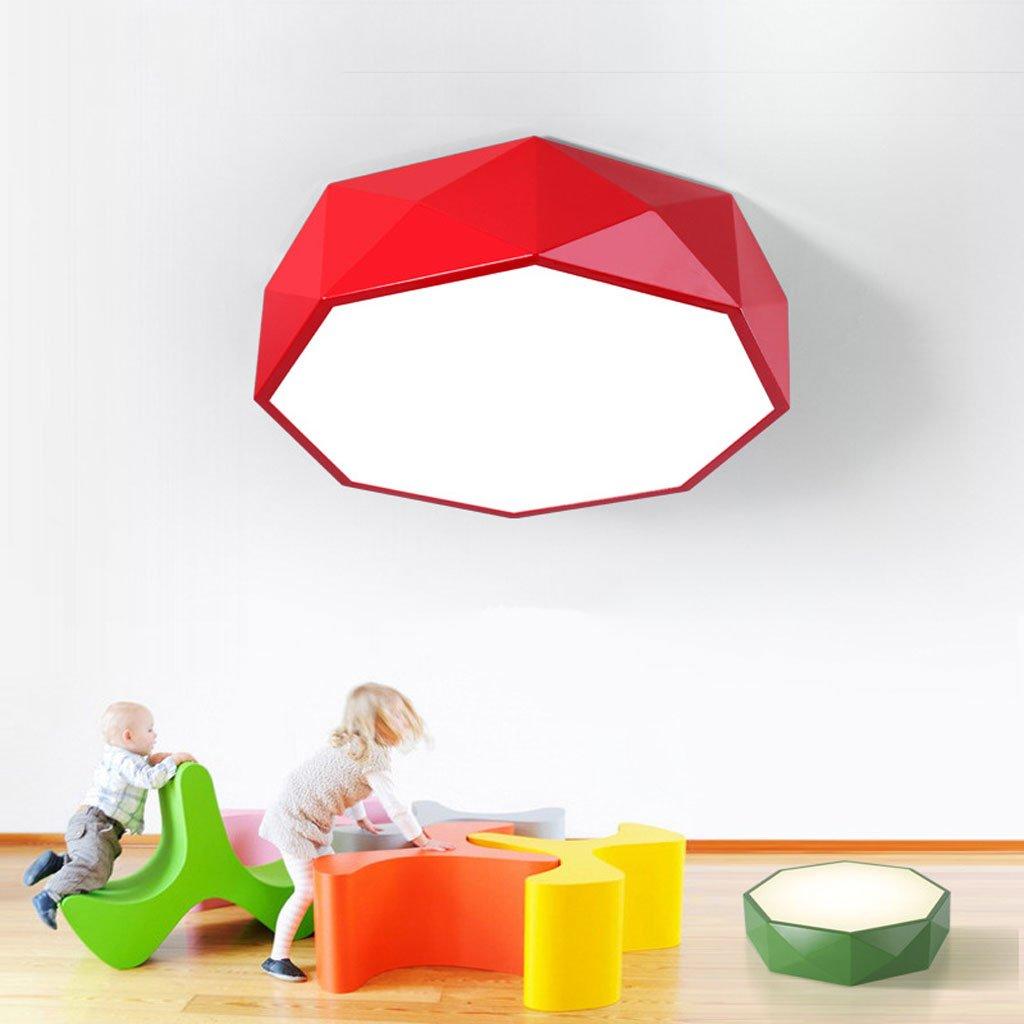 天井の明るい色の幾何学の子供の性格マルチラインのリビングルームモダンシンプルな寝室の研究 ( Color : Red , Size : C(with remote control) ) B07BR8WY4Z 24933 C(with remote control)|Red Red C(with remote control)
