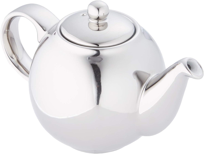 cer/ámica 500 ml color verde y blanco Tetera con colador London Pottery Splash Globe 2 tazas