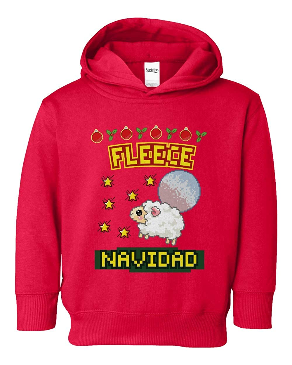 Societee Fleece Navidad Cute Adorable Girls Boys Toddler Hooded Sweatshirt