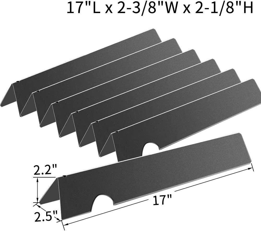 43.5 cm Lx 15 cm W Heat Tent Burner Cover Flavorizer Bar WELL GRILL Stainless Steel Heat Plate Shield Flame Diffuser for Gas Grill 17inch x 5.9 inch