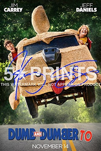 Sequel Poster (Dumb And Dumber To Poster Photo Print 12x8 Signed PP Cast Jim Carrey Jeff Daniels Movie Sequel Autograph Print by 5 Star Prints)