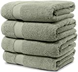 4 Piece Bath Towel Set. 2017(New Collection).Premium Quality Turkish Towels. Super Soft, Plush and Highly Absorbent. Set Includes 4 Pieces of Bath Towels. By Maura. (Bath Towel - Set of 4, Sage Green)