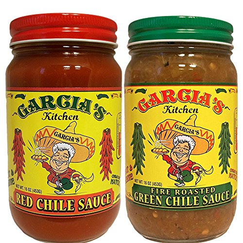 - Garcia's New Mexico Kitchen Red Chile Sauce and Fire Roasted Green Chile Sauc...
