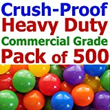 My Balls Pack of 500 Jumbo 3'' Multi-Colors Commercial Grade Ball Pit Balls - Crush-Proof Phthalate Free BPA Free PVC Free Lead Free non-Toxic non-Recycled Plastic