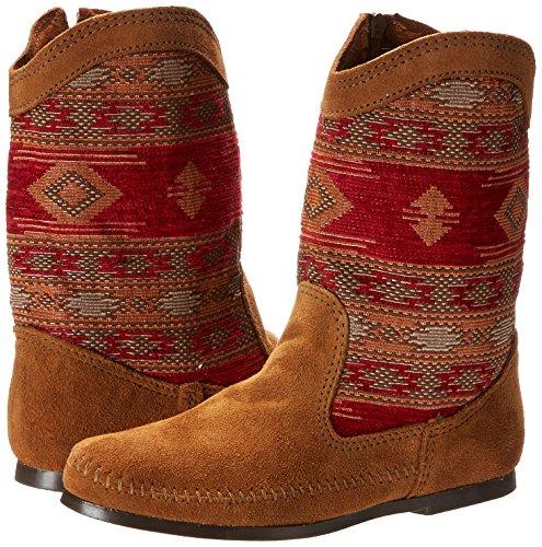 Braun Mujer Baja Mocasin Brown Para Minnetonka dusty Botas Marrón Boot Rx4aagq