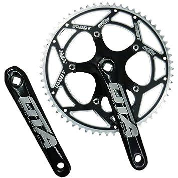 Uta 60T 60 Gear plato grande diámetro cadena para bicicleta (velocidad única 7075 aleación de